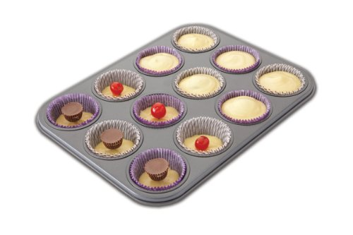 Chicago Metallic Non-Stick 12 Cup Surprise Cupcake or Muffin Pan - Chicago Metallic Brownie Pan