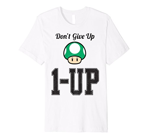 Nintendo Super Mario Don't Give Up 1-Up Premium T-Shirt (Donkey Kong Country 2 Rom Snes Espanol)