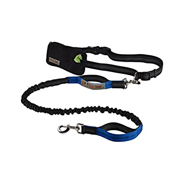 Doggy Dear Retractable Hands Free Dual Bungee Dog Leash for Running, Walking, Hiking, Reflective Stitching
