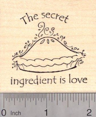 The Secret Ingredient is Love, Pie Rubber Stamp (Pie Rubber Stamp)