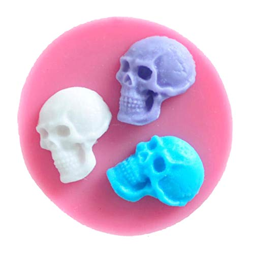 (Weiy Halloween Theme Skull Silicone Cake Mould Fondant Mould Cake Decorating Chocolate Baking Mold Sugarcraft Tool Home Kitchen Baking)
