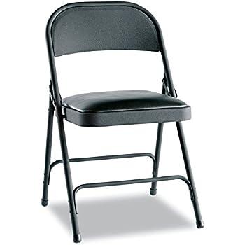 Amazon Com Alefc94vy10b Steel Folding Chair W Padded