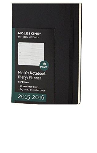 Moleskine 2015 2016 Calendar Weekly Notebook Diary Planner Hard Cover Calendar Book