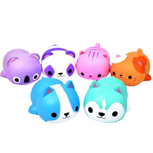(Children's Adult Toys Cute Cat Slow Rebound Decompression Toy (6PC) (Color,)