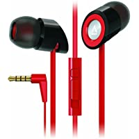 Creative Hitz MA-350 In-Ear Noise Isolating Headphones with 9mm Driver and In-Line Mic and Volume Control (Discontinued by Manufacturer) - Black/Red