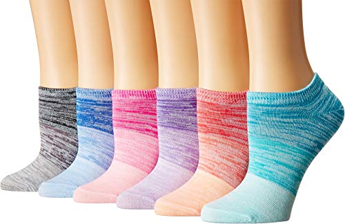 (Sof Sole Women's All Sport Lite Sunset Fade No Show 6-Pack Assorted 5-10)