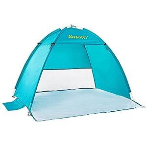 Beach Tent CoolHut Beach Umbrella Sun Shelter Instant Portable Cabana Shade Outdoor Pop Up Anti-UV 50+ Lightest & Most Stable Easyup By Alvantor…