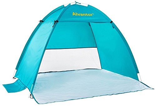 Beach Tent CoolHut Beach Umbrella Sun Shelter Instant Portable Cabana Shade Outdoor Pop Up Anti-UV 50+ Lightest & Most Stable Easyup By Alvantor…
