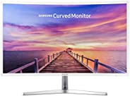 (Renewed)  Samsung 32in Full HD Curved Screen LED TFT LCD Monitor Glossy White MagicBright FreeSync Technology