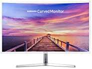 Samsung 32in Full HD Curved Screen LED TFT LCD Monitor Glossy White MagicBright FreeSync Technology Eco Saving