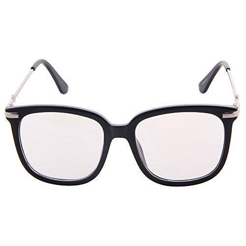claire surdimensionnées lentille section couture lunettes grandes Black ogobvck haute de la eve xnwzYBUq71