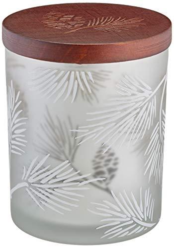(Lenox Alpine Pinecone Votive with Wood Lid, 2 Piece)