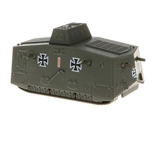 - B Blesiya 1/100 German A7V Tank WWI Heavy Panzer Army Vehicle Model Toy for Kids Boys