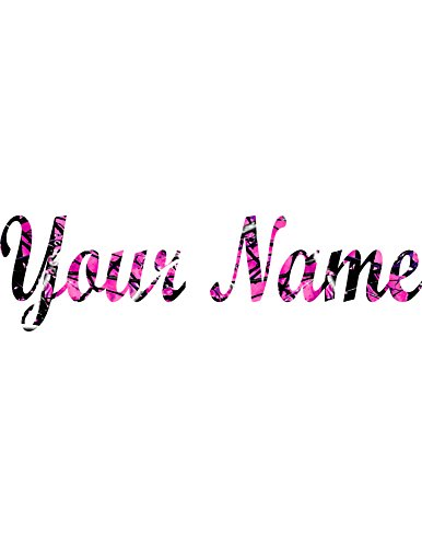 Best Your Name Sticker Decal Muddy CAMO -