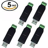 WINGONEER 5Pcs CH340E USB to TTL USB to RS485 Converter Adapter Window 7/8 XP Linux Vista