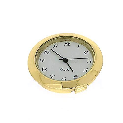 Mini Clock Quartz Movement Insert Round 1 7/16