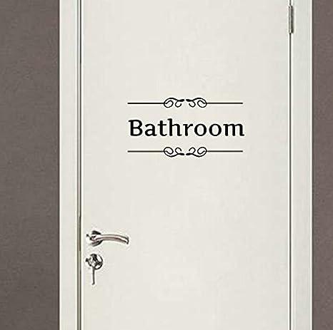 Landsell Baño WC Cartel PVC Pared/Puerta Pegatinas Pegatinas ...