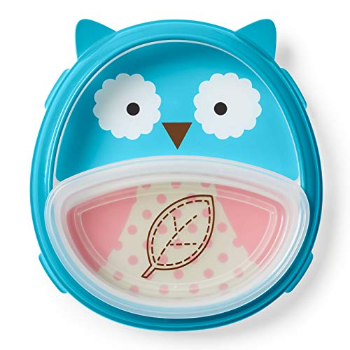 Skip Hop Baby Plate and Bowl Set, Owl/Blue/Red/White (Owl Small Plate)