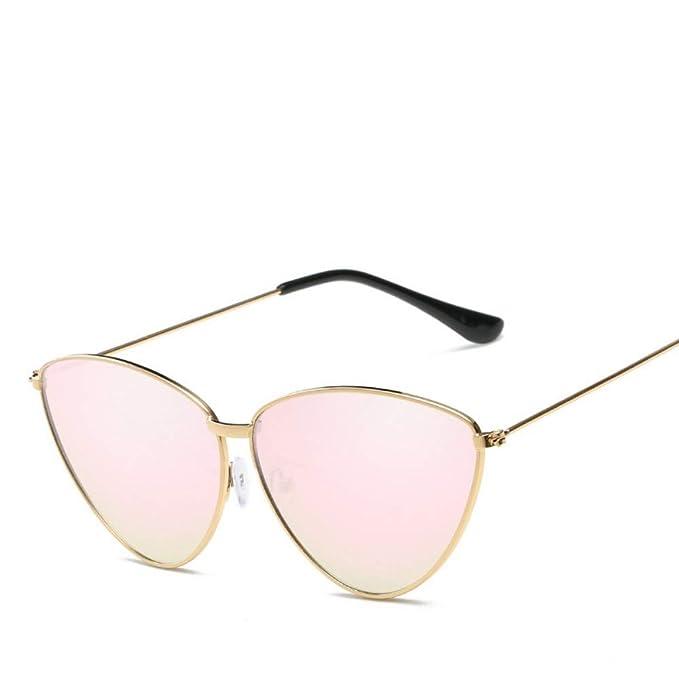 LLdy Gafas de sol forma triangular, ojo de gato, metal ...