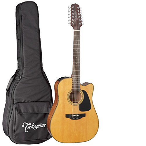 (Takamine GD30CE-12NAT Dreadnought 12-String Cutaway Acoustic-Electric Guitar with Takamine Gig Bag)