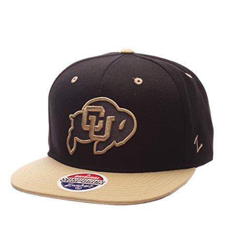 c870ff937d786a Zephyr NCAA Colorado Buffaloes Adult Men's Z11 Phantom Snapback Hat,  Adjustable Size, Black/