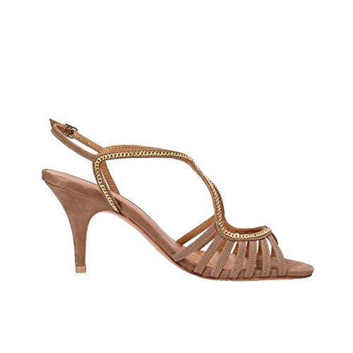 VICENZA Brown Sandals Leather EU Suede 6 AF09 Woman US 36 UqOwRErUx