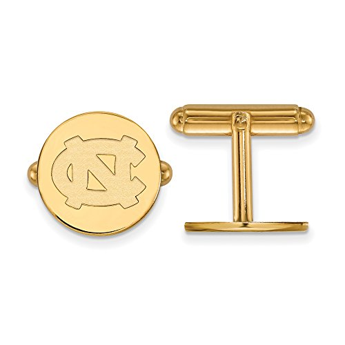 North Carolina Cuff Links (14k Yellow Gold) by LogoArt