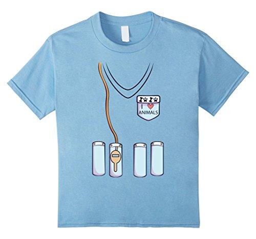 Child Veterinarian Costume Ideas (Kids Veterinarian Costume T-Shirt for Halloween Vet Cosplay Tee 8 Baby Blue)