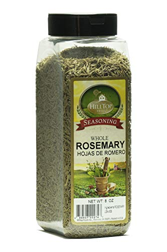 Hilltop Foods Whole Rosemary Leaves-Dried Spice 8 OZ Container