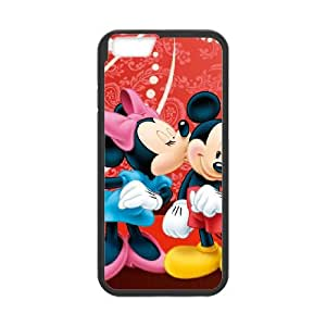 Disney Mickey Mouse Minnie Mouse iPhone 6 4.7 Inch Cell Phone Case Black PQN6053055307192