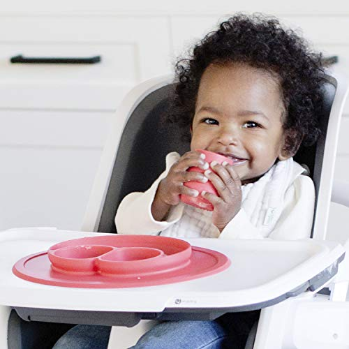 41zXp70BkyL - Ezpz Mini Mat (Blue) - 100% Silicone Suction Plate With Built-in Placemat For Infants + Toddlers - First Foods + Self-Feeding - Comes With A Reusable Travel Bag