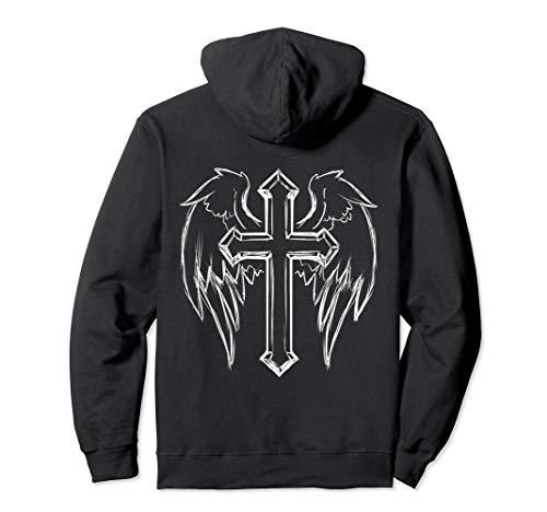 Christian Cross with Angel Wings Hoodie ()