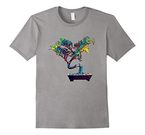 (Mens Bonsai Tree T Shirt 3XL Slate)