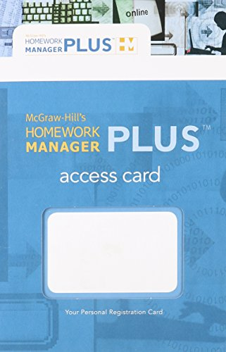 Homework Manager Plus Passcode Card to accompany Accounting: What the Numbers Mean