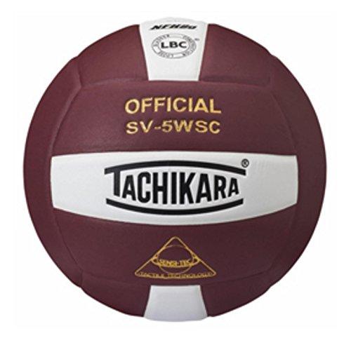 Tachikara Sensi-Tec Composite Sv-5wsc Volleyball Cardinal/White