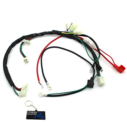 STONEDER Wiring Harness Loom Zongshen 190cc Electric Start Engine Pit Dirt Bike Motorcycle: