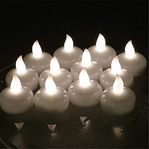 Flameless flickering tea lights with timer