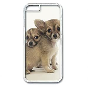 iCustomonline Long Haired Chihuahuas Designed Hard PC Transparent Case Cover Skin for iPhone 6 (4.7 inch)