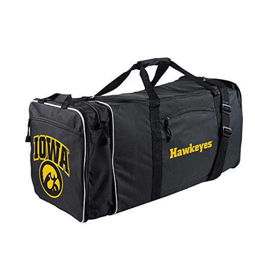 The Northwest Company Officially Licensed NCAA Iowa Hawkeyes Steal Duffel Bag
