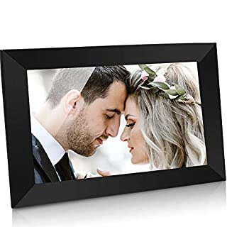 GRC 10.1 Inch WiFi Digital Photo Frame with IPS Full HD Touch Screen, Send Photos and Videos from App (iOS Android) Anywhere Anytime, 16GB Internal Storage, Support SD Card