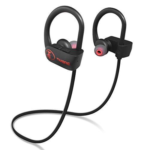 TIMBRE LABS AC25 Bluetooth Headphones Wireless Earbuds for Sports, Running or Gym Workout. IPX7 Waterproof, Sweatproof, Secure-Fit Headset. Noise Cancelling Earphones w Mic