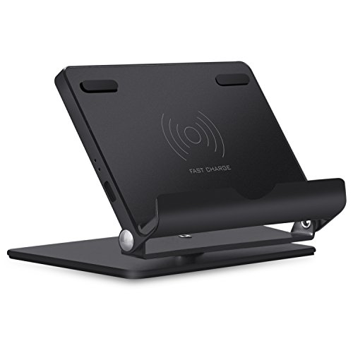 TEMMOS QI Fast Wireless Charger, Multi-Angle Wi...
