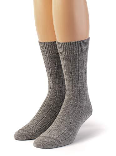 Warrior Alpaca Socks – Women's Baby Alpaca Wool, Bed & Lounge Socks – Relax & have warmer feet while sleeping (Medium, Smoke)