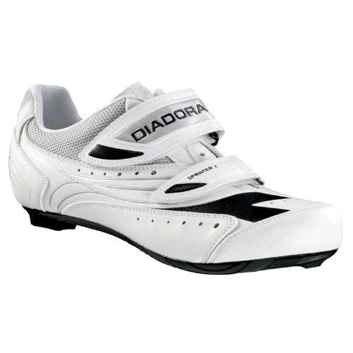 Diadora, Scarpe da ciclismo uomo, Bianco (bianco), 43