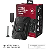 weBoost Drive X (475021) Vehicle Cell Phone Signal Booster | Car, Truck, Van, or SUV | U.S. Company | All U.S. Carriers - Verizon, AT&T, T-Mobile, Sprint & More | FCC Approved, Black, Red, White