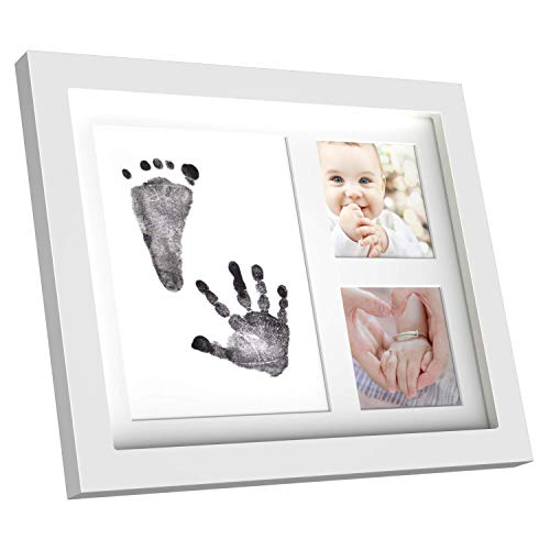 HOPAS Baby Picture Frame Babyprints Newborn Baby Handprint and Footprint Photo Frame Kits