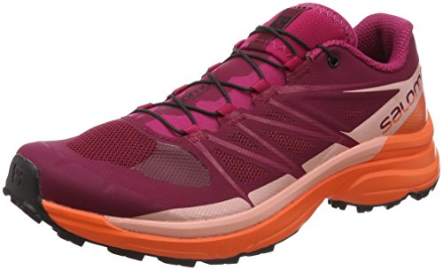 Pro Rouge Almond Femme De Trail 3 W Salomon 000 coral nasturtium Chaussures Wings beet Red 5wZxU