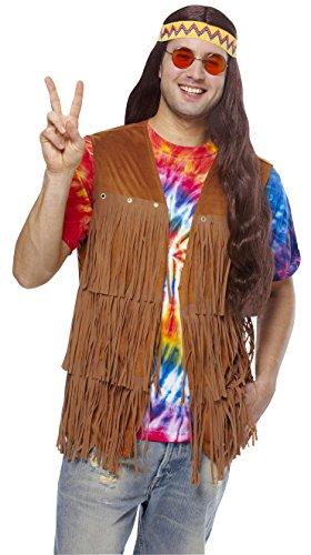 Costume Culture Men's Hippie Fringe Vest Costume, Brown, (Adult Hippie Costumes Vest)