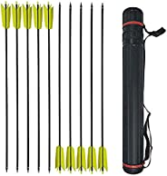 30 Inch Flu Flu Arrows Hunting Carbon Arrows Target Practice Arrows Spine 400 4 Inch Turkey Feathers Fletching
