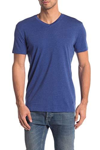 Sleeve V-neck Burnout Tee - Mr. Swim Men's Short Sleeve V-Neck Tee - Casual Moisture Wicking T-Shirt - Burnout Navy Blue, XX-Large